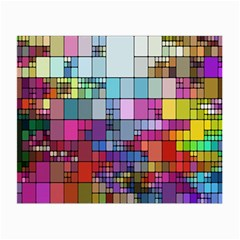 Color Abstract Visualization Small Glasses Cloth