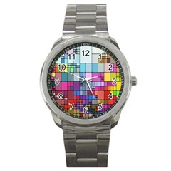 Color Abstract Visualization Sport Metal Watch