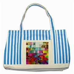 Color Abstract Visualization Striped Blue Tote Bag