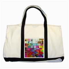 Color Abstract Visualization Two Tone Tote Bag