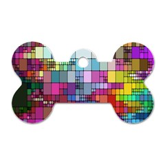 Color Abstract Visualization Dog Tag Bone (two Sides)