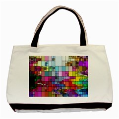 Color Abstract Visualization Basic Tote Bag (two Sides)