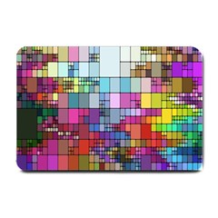 Color Abstract Visualization Small Doormat