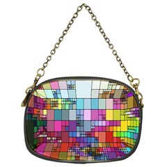 Color Abstract Visualization Chain Purses (one Side)