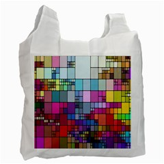 Color Abstract Visualization Recycle Bag (two Side)