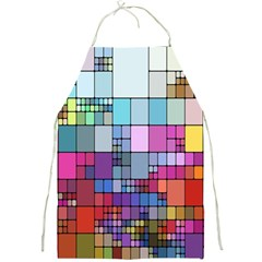 Color Abstract Visualization Full Print Aprons