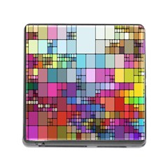 Color Abstract Visualization Memory Card Reader (square)