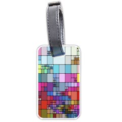 Color Abstract Visualization Luggage Tags (two Sides)