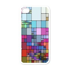 Color Abstract Visualization Apple Iphone 4 Case (white)