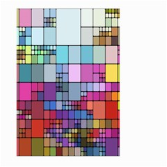 Color Abstract Visualization Large Garden Flag (two Sides)