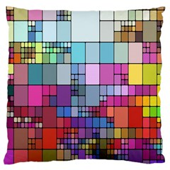Color Abstract Visualization Large Cushion Case (one Side)