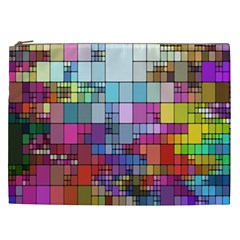 Color Abstract Visualization Cosmetic Bag (xxl)