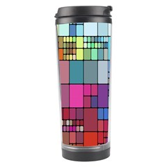 Color Abstract Visualization Travel Tumbler