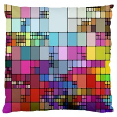 Color Abstract Visualization Standard Flano Cushion Case (one Side)