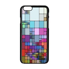 Color Abstract Visualization Apple Iphone 6/6s Black Enamel Case
