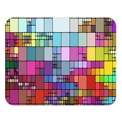 Color Abstract Visualization Double Sided Flano Blanket (large)