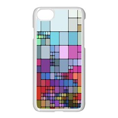 Color Abstract Visualization Apple Iphone 8 Seamless Case (white)
