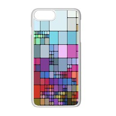 Color Abstract Visualization Apple Iphone 8 Plus Seamless Case (white)
