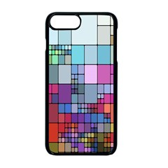 Color Abstract Visualization Apple Iphone 8 Plus Seamless Case (black)