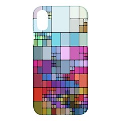 Color Abstract Visualization Apple Iphone X Hardshell Case
