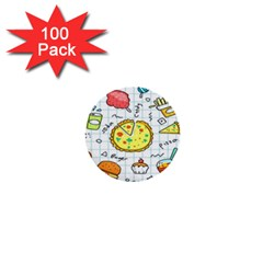 Colorful Doodle Soda Cartoon Set 1  Mini Buttons (100 Pack)