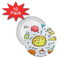 Colorful Doodle Soda Cartoon Set 1 75  Buttons (10 Pack)