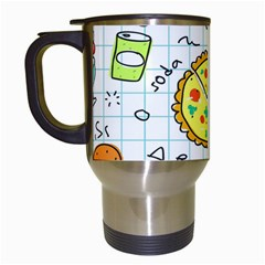 Colorful Doodle Soda Cartoon Set Travel Mugs (white)