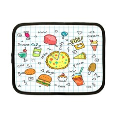 Colorful Doodle Soda Cartoon Set Netbook Case (small)