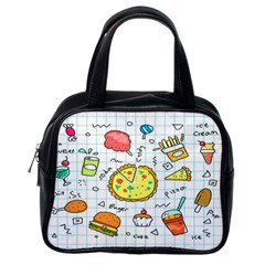 Colorful Doodle Soda Cartoon Set Classic Handbags (one Side)