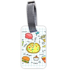 Colorful Doodle Soda Cartoon Set Luggage Tags (two Sides)