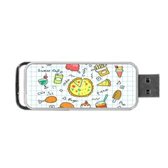 Colorful Doodle Soda Cartoon Set Portable Usb Flash (two Sides)
