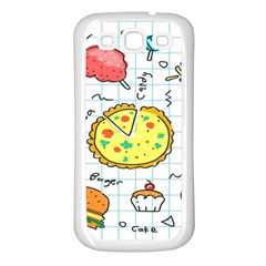 Colorful Doodle Soda Cartoon Set Samsung Galaxy S3 Back Case (white)