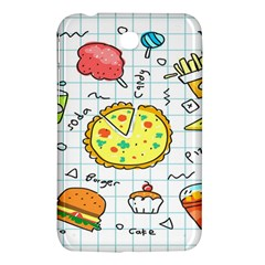 Colorful Doodle Soda Cartoon Set Samsung Galaxy Tab 3 (7 ) P3200 Hardshell Case