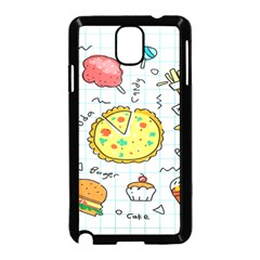 Colorful Doodle Soda Cartoon Set Samsung Galaxy Note 3 Neo Hardshell Case (black)