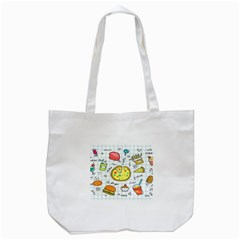 Colorful Doodle Soda Cartoon Set Tote Bag (white)