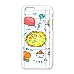 Colorful Doodle Soda Cartoon Set Apple Iphone 6/6s White Enamel Case