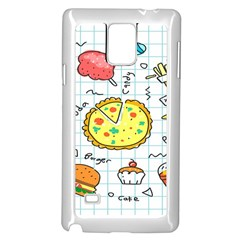 Colorful Doodle Soda Cartoon Set Samsung Galaxy Note 4 Case (white)