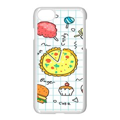 Colorful Doodle Soda Cartoon Set Apple Iphone 8 Seamless Case (white)