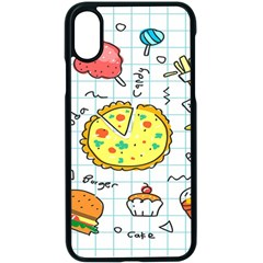 Colorful Doodle Soda Cartoon Set Apple Iphone X Seamless Case (black)