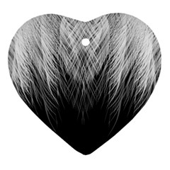 Feather Graphic Design Background Ornament (heart)