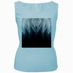 Feather Graphic Design Background Women s Baby Blue Tank Top