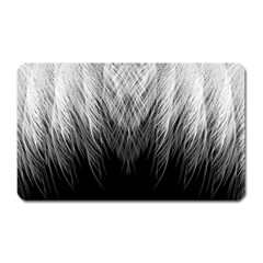 Feather Graphic Design Background Magnet (rectangular)
