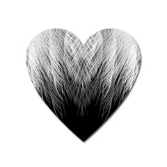 Feather Graphic Design Background Heart Magnet