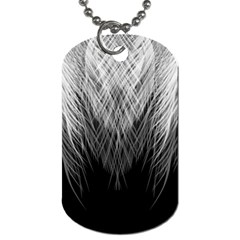 Feather Graphic Design Background Dog Tag (two Sides)