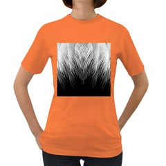 Feather Graphic Design Background Women s Dark T Shirt