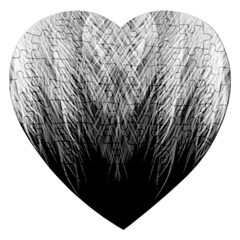 Feather Graphic Design Background Jigsaw Puzzle (heart)