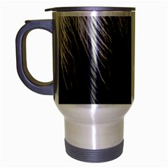 Feather Graphic Design Background Travel Mug (silver Gray)