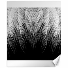 Feather Graphic Design Background Canvas 16  X 20
