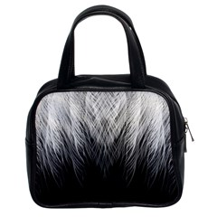 Feather Graphic Design Background Classic Handbags (2 Sides)
