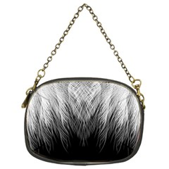 Feather Graphic Design Background Chain Purses (two Sides)